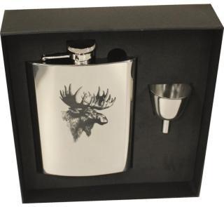 Stabilotherm Pocket Flask 0,2 L + Gift Box, Moose, OneSize