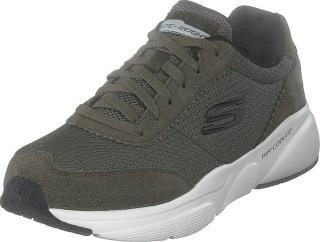 Skechers Mens  Meridian Olv, Sko, Sneakers og Treningssko, Sneakers, Grå, Herre, 41