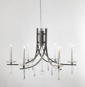 Eglo Märtha Tak Krom / Glass Justerbar 75-140cm 6 Lyskilder