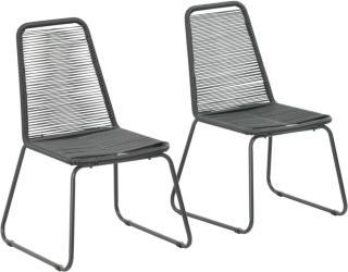vidaXL Stablestoler 2 stk polyrotting svart