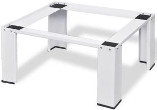vidaXL Pidestall for vaskemaskin Hvit
