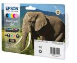 Epson 24 Multipack - 6-pack - svart, gul, cyan, magenta, lys magenta, lys cyan - original - blekkpatron - for Expression Photo XP-55, XP-750, XP-760,
