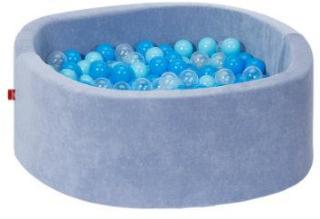 knorr® leker ballbad myk - myk blå inkludert 300 baller myk blå / blå / gjennomsiktig