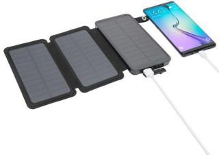 Linocell Powerbank med solcellelading 8000 mAh