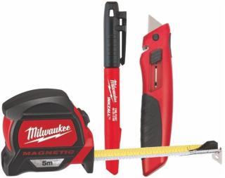 Milwaukee 5M Målebånd  kniv og tusj