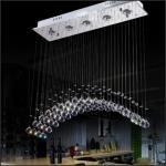 0 Moderne krystall taklampe