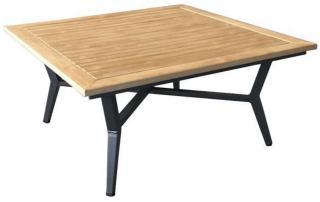 Bord 90x90 cm m/polywood topp brun