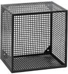 Nordal Wire vegghylle kvadratisk - Svart