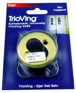 TRIOVING SYLINDERSKILT 5968 9MM MESSING MATT